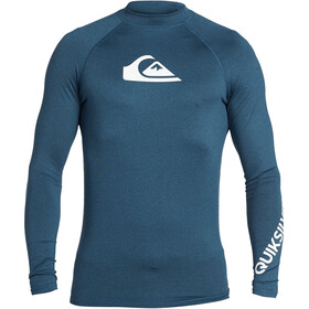 Quiksilver All Time Maglietta a maniche lunghe Uomo, majolica blue heather